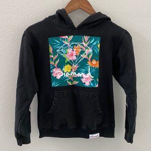 Diamond Supply Co Boys black hoodie floral graphic